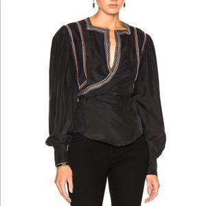 Isabel Marant Lisa Jaisalmer silk top